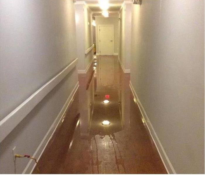 Water damage at an apartment in Chicago Heights Before