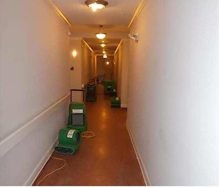 Water damage at an apartment in Chicago Heights After